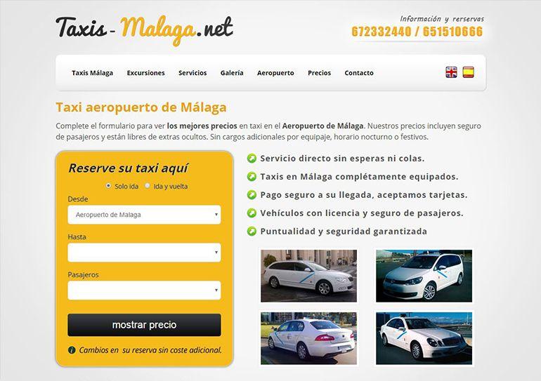 Aplicación reservas online Taxis-Malaga.net