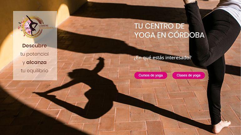 Landing page y SEM Lumiere Zen Garden