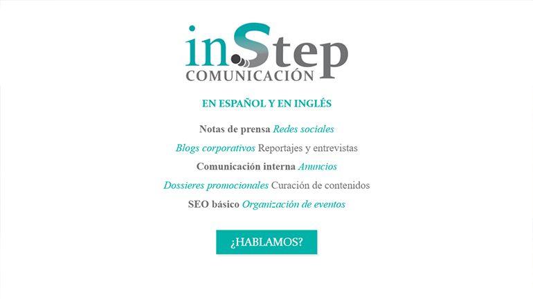 Web InStep Comunicación