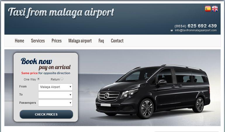 Aplicación de reservas online Taxi From Málaga Airport